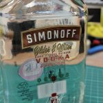 Custom text UV printed onto a vodka bottle as a personalised gift.