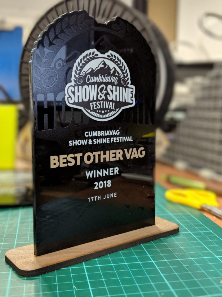 Trophy UV Printed
