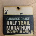 UV Printed Colour Medal showing deer and text about a Half Marathon