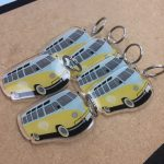 UV Printed Keyrings of a vw camper